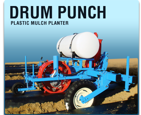 drum punch plastic mulch planter